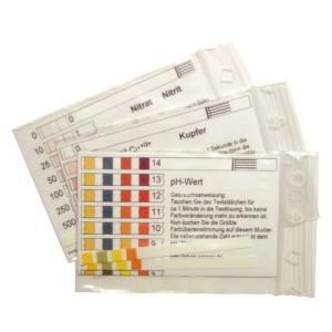 Nitrattest, Nitrittest, Kupfertest und den pH-.Wasserschnelltest