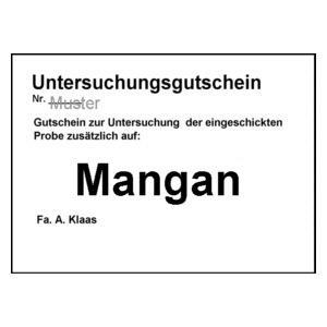 Untersuchungsgutschein Mangan