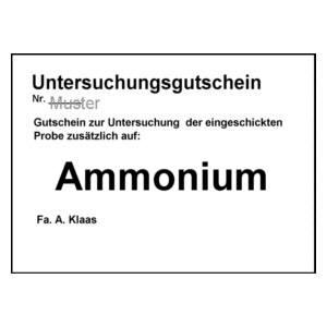 Untersuchungsgutschein Ammonium
